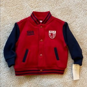 NWT Ralph Lauren Red and Navy 6m Baby Boy Sweater